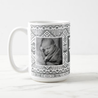 Grey Aztec Pattern | LOVE with Photos Coffee Mug