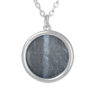 Grey background metal texture strings template DIY Round Pendant Necklace
