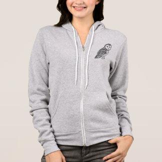 Grey Barn Owl Women's Bella Canvas Full-Zip Hoodie