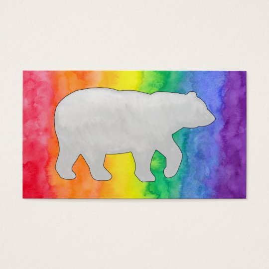 Grey Bear on Rainbow Wash Business Card