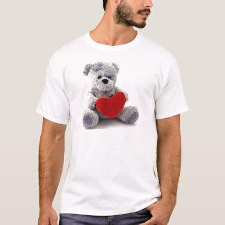 Grey Bear With Heart T-Shirt