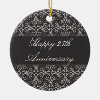 Grey Berry Cluster 25th Anniversary Ornament