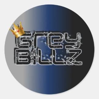 Grey Billz Logo Round Sticker