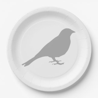 Grey Bird Paper Plates 9 Inch Paper Plate