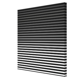 Grey, Black and Add 3rd Color Stripe Canvas Print