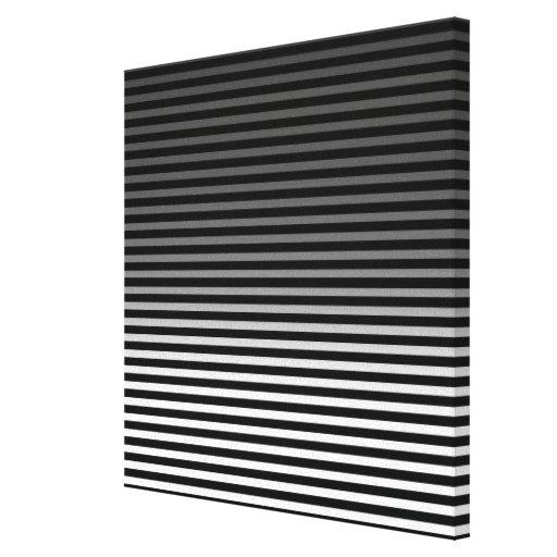 Grey, Black and Add 3rd Color Stripe Canvas Print