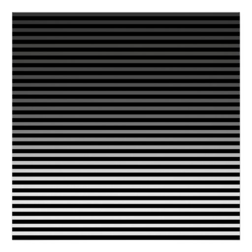 Grey, Black and Add 3rd Color Stripe Posters