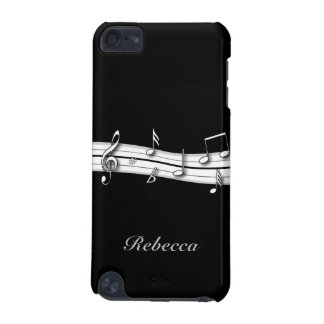 Grey black and white musical notes score iPod touch 5G case
