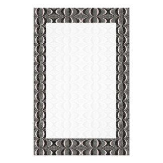 Grey Black Art Deco Pattern Flyers