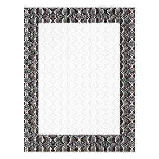 Grey Black Art Deco Pattern Full Color Flyer