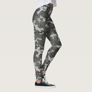 Grey & Black Camo Custom Leggings