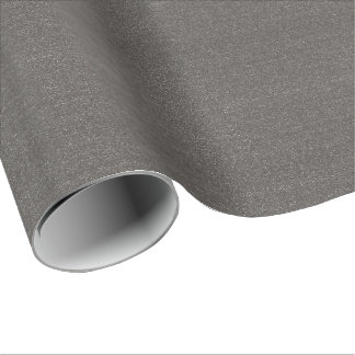 Grey / Black Faux Glitter Wrapping Paper