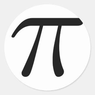 Grey Black Gray Yellow Orange Pi 3.14 symbol Math Classic Round Sticker