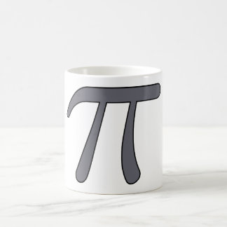 Grey Black Gray Yellow Orange Pi 3.14 symbol Math Coffee Mugs