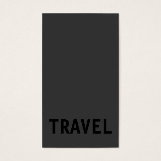 Grey Black Out Travel Agent Vertical Business Card