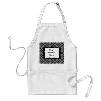 Grey black pattern standard apron