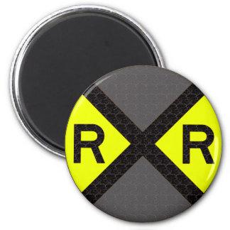 Grey & Black Railroad Crossing Magnet
