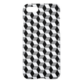 Grey, Black & White 3D Cubes Pattern iPhone 8/7 Case