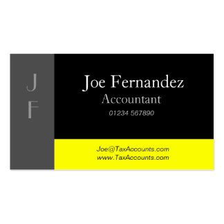 Grey, Black & Yellow Professional Business Card