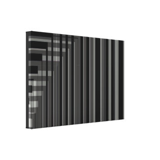 Grey Blk Stripes Gallery Wrapped Canvas