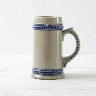 Grey/Blue Beer Stein Coffee Mugs