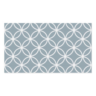 Grey Blue Circular Pattern Pack Of Standard Business Cards
