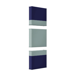 Grey Blue color block Stretched Canvas Print