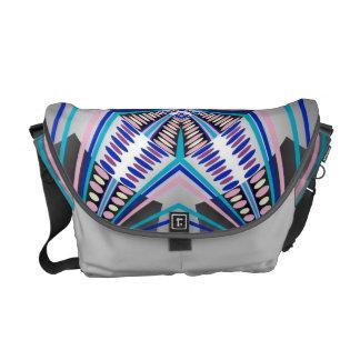Grey Blue Dots Rickshaw Messenger Bag