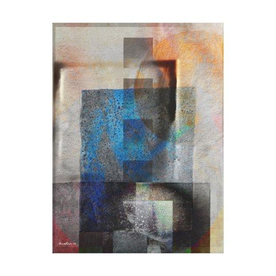 Grey & Blue Geometric Industrial Grunge Art 6