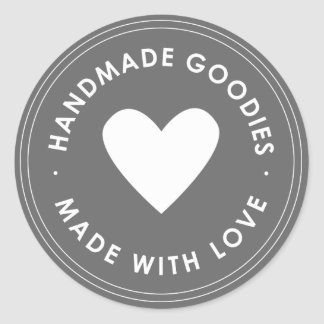 Grey Blue Handmade Goodies Sticker