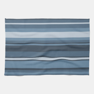 Grey-blue stripes tea towel
