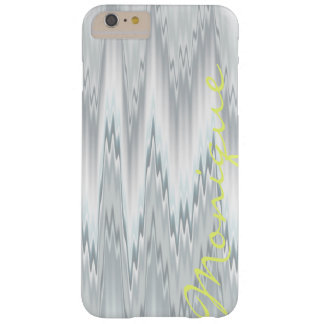 grey blurred zigzag personalized by name barely there iPhone 6 plus case
