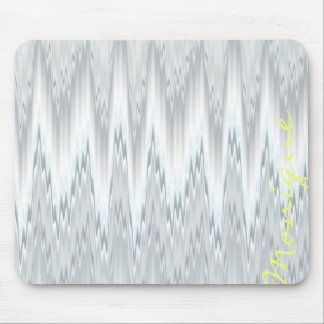grey blurred zigzag personalized by name mouse pad