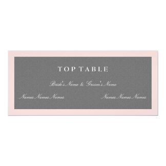 Grey & Blush Pink Top Table Plan Card