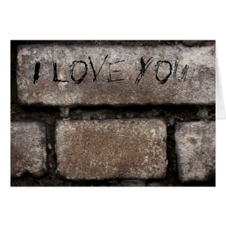 Grey Bricks I Love You Card