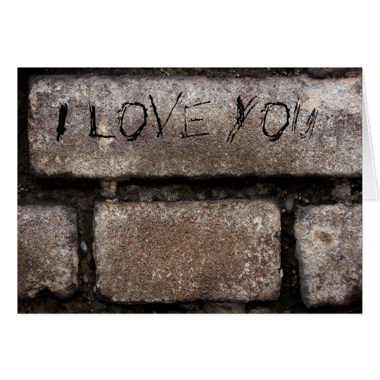 Grey Bricks I Love You Card