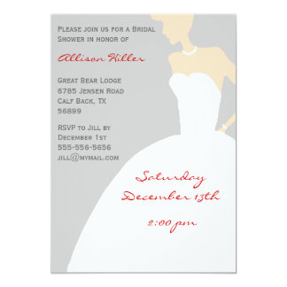 Grey Bridal Shower Invitation