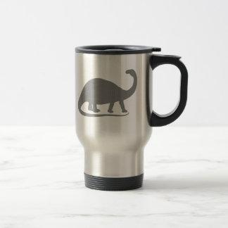 Grey Brontosaurus 15 Oz Stainless Steel Travel Mug