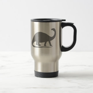 Grey Brontosaurus Stainless Steel Travel Mug