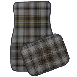 Grey Brown Black Giant Tartan Plaid Car Mat