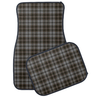 Grey Brown Black Tartan Plaid Car Mat