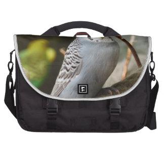 Grey Budgie Bird Laptop Computer Bag