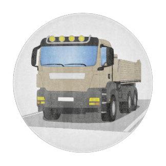 grey building sites truck cutting board