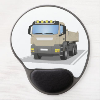grey building sites truck gel mouse mat