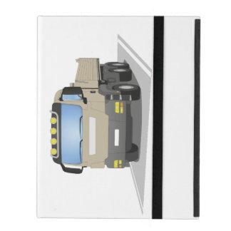 grey building sites truck iPad case