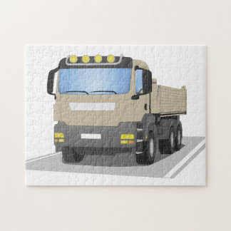 grey building sites truck jigsaw puzzle