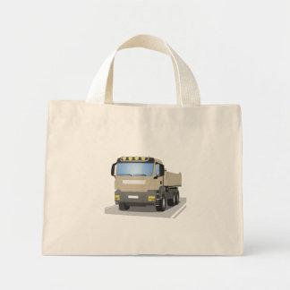 grey building sites truck mini tote bag