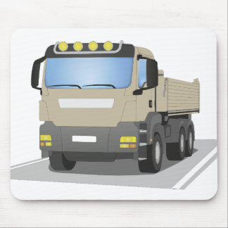 grey building sites truck mouse mat