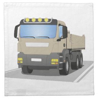 grey building sites truck napkin