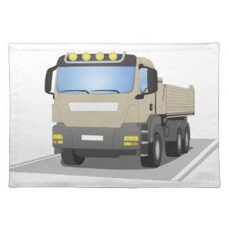grey building sites truck placemat